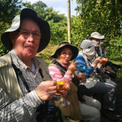Our group of easy and relax of Trogon Tours
