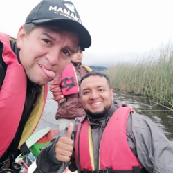 With the famous Guide and friend Carlos Batancour